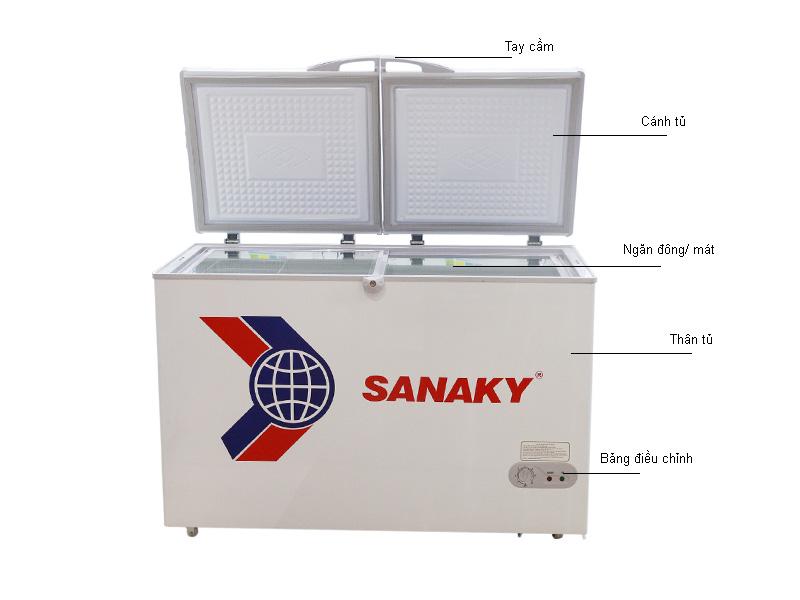 Tủ đông Sanaky VH365W2 360L 2 cánh mở lên