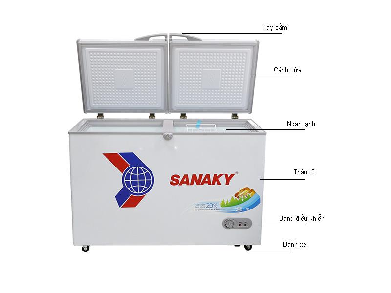 Tủ đông Sanaky VH3699A1- Dàn đồng 369lit