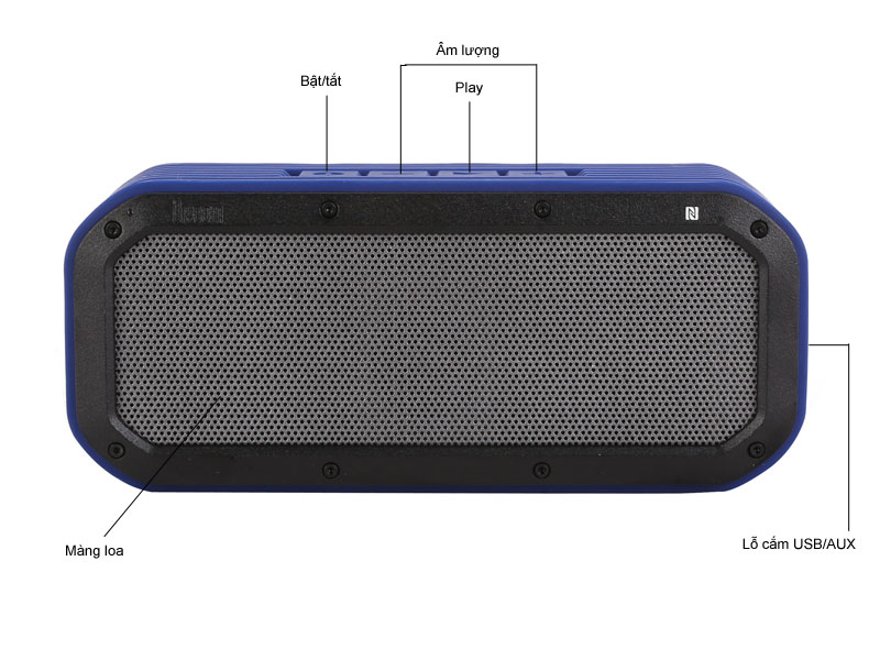 Loa Bluetooth Divoom Voombox-Outdoor Xanh da trời