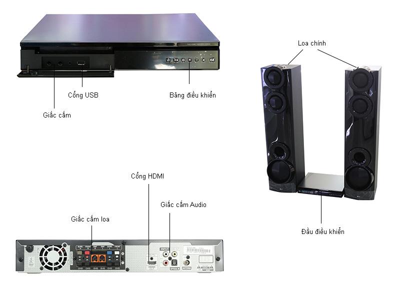 Dàn âm thanh DVD LG LHD675.DVNMLLK - 4.2