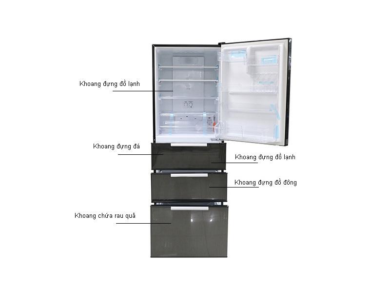 Tủ lạnh Aqua AQRD360BL - 390L ,  Màu đen