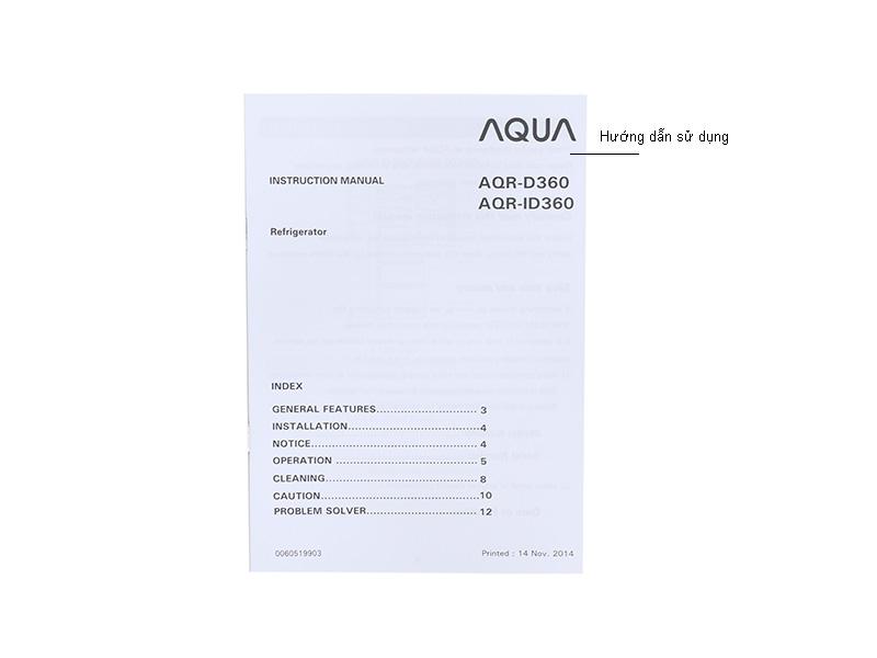 Tủ lạnh Aqua AQRID360BL - 390L , Inverter , màu đen
