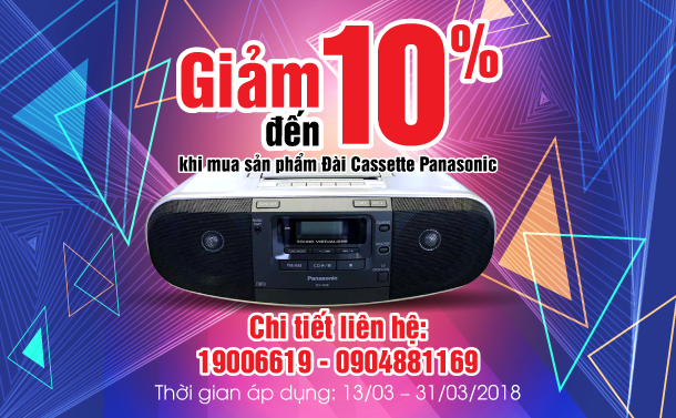 AT_Giam 10% cassette Panasonic
