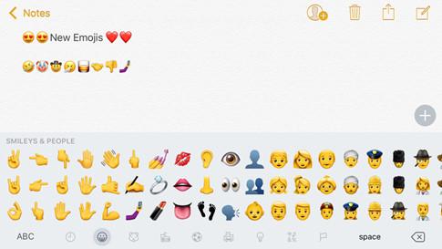 Các biểu tượng cảm xúc mới sẽ có mặt trên iOS 10.2