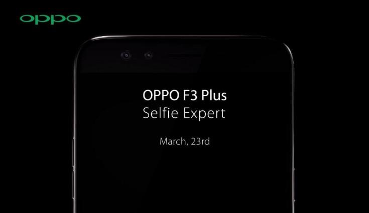 Oppo F3 Plus chuẩn bị ra mắt với 2 máy ảnh Selfie, RAM 4 GB