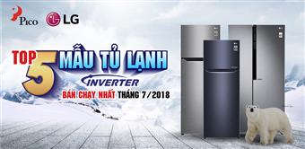 Top 5 tủ lạnh LG Inverter bán chạy nhất tháng 7 tại điện máy Pico