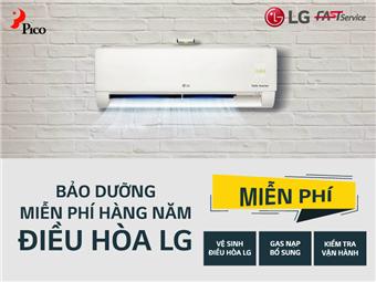 Bảo dưỡng miễn phí hàng năm điều hòa treo tường LG