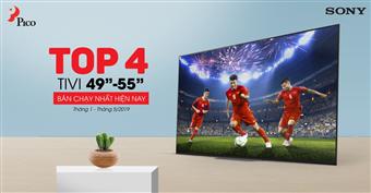 Top 4 tivi 49'' - 55'' bán chạy nhất nửa đầu năm 2019