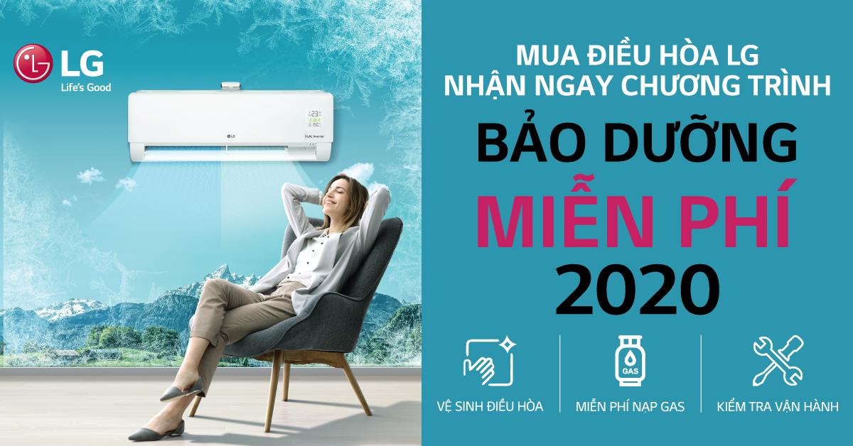 Bảo dưỡng điều hòa LG miễn phí, sẵn sàng đón hè 2020