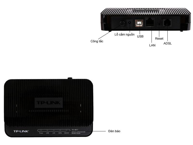 ADSL2  Router 1 cổng LAN Ethernet  & 1 cổng USB