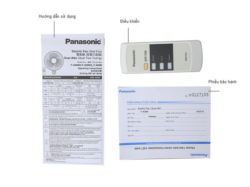 Quạt treo tường Panasonic F409MG - Xám