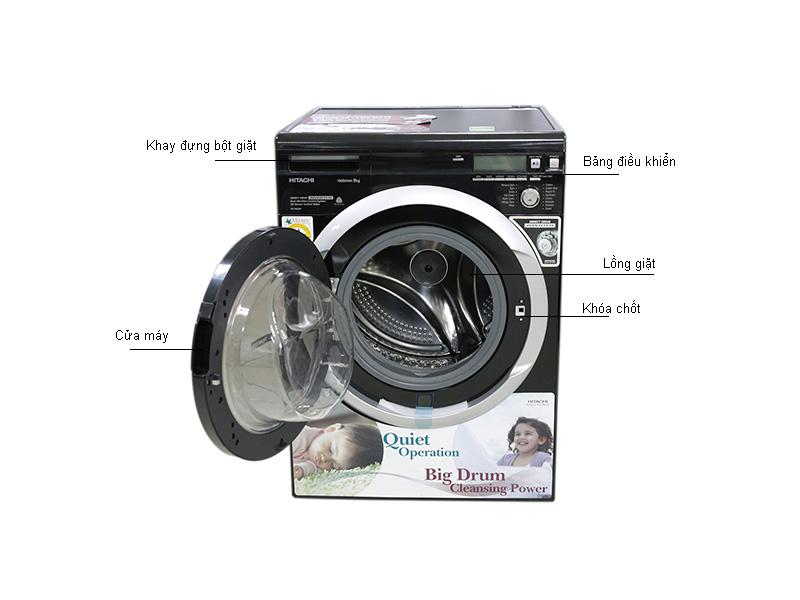 Máy giặt lồng ngang HITACHI BDW80MVBK