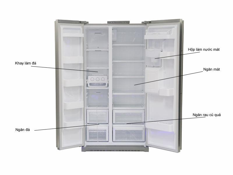 Tủ lạnh Side-by-side Samsung RSA1WTSL 510 lít