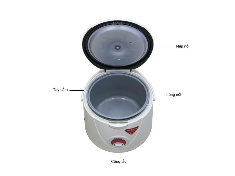 Nồi cơm điện Cuckoo CR1021 - Màu trắng và đỏ