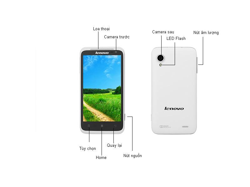 Điện thoại di động Lenovo S720 Trắng