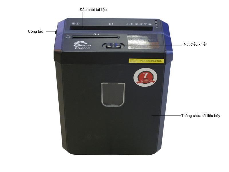 Máy huỷ tài liệu Silicon PS800C