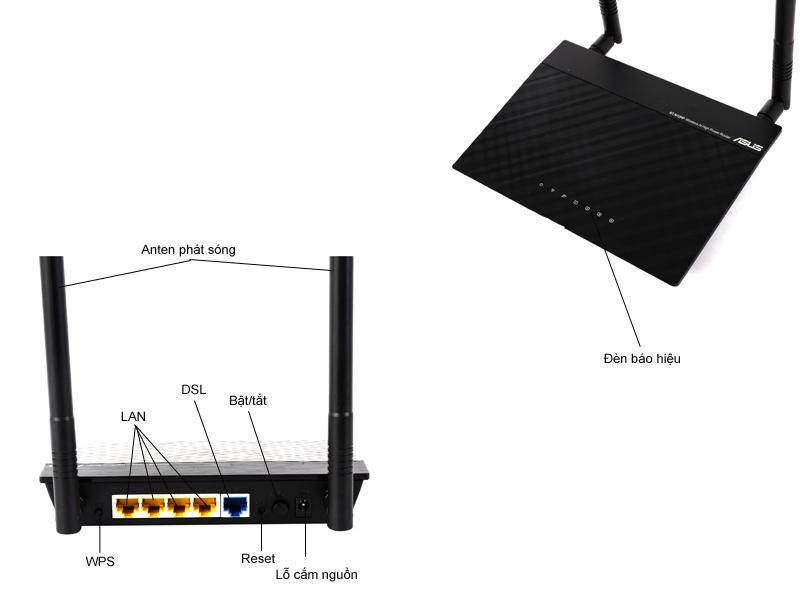 Bộ phát sóng không dây Asus RT-N12HP