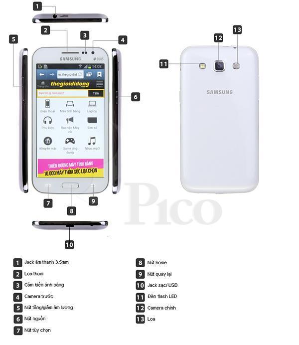Samsung I8552 Trắng - Galaxy Win