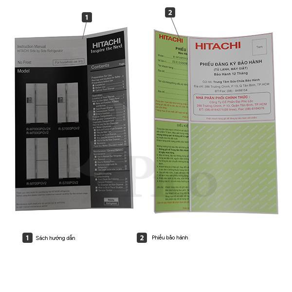 Tủ lạnh Side by side Hitachi R-M700GPGV2XMBW