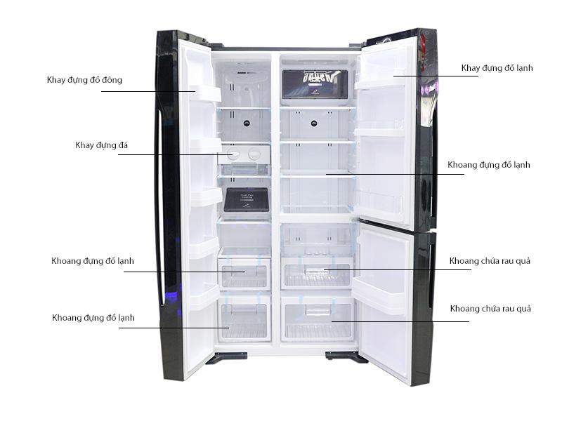 Tủ lạnh SBS Hitachi RM700PGV2GBK
