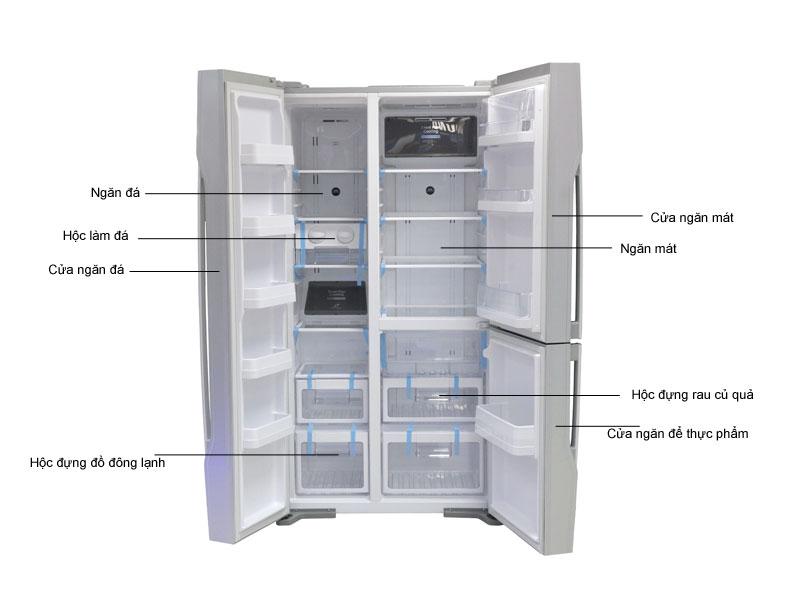 Tủ lạnh SBS Hitachi RM700PGV2GS