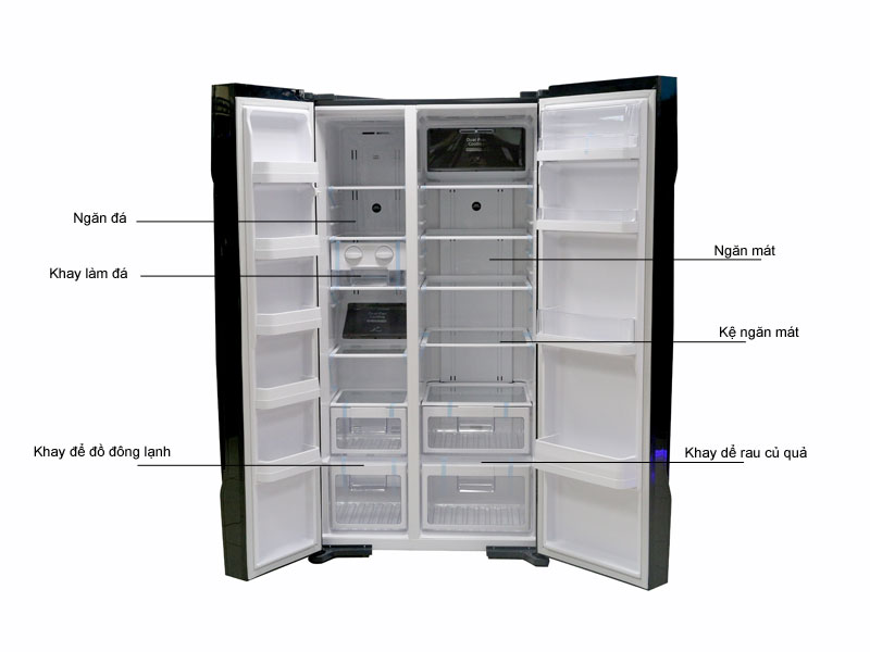 Tủ lạnh SBS Hitachi R-S700PGV2GBK