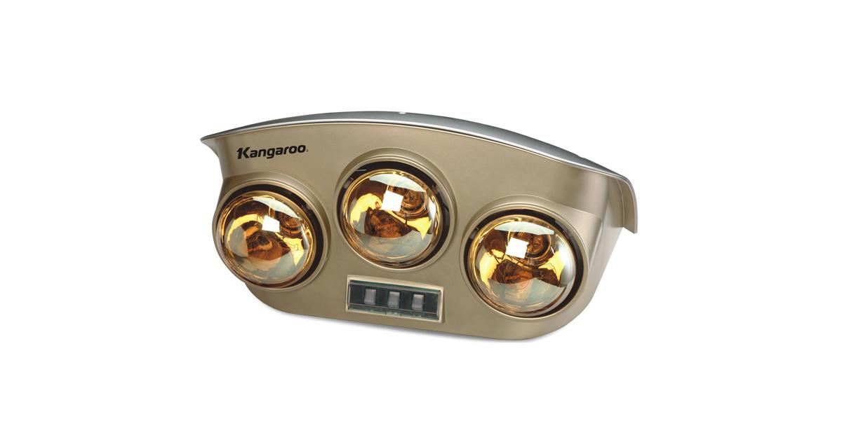 Bóng đèn mạ vàng và có 3 công tắc riêng biệt