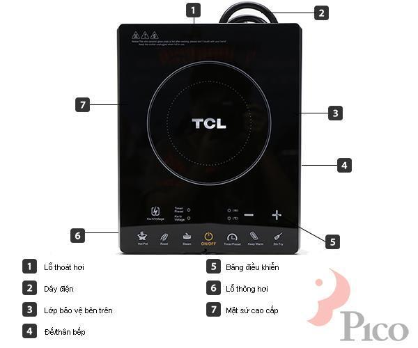 Bếp từ TCL  TCHA181F; phím cảm ứng ,công suất 1800W