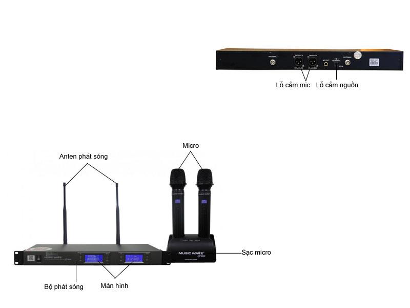 Micro không dây Musicwave HS - 1600I