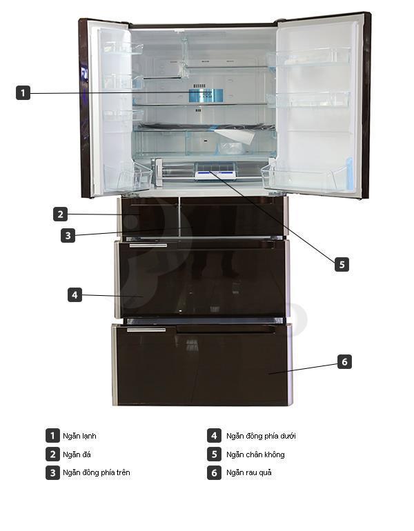 Tủ lạnh Hitachi C6800SXS - Bạc