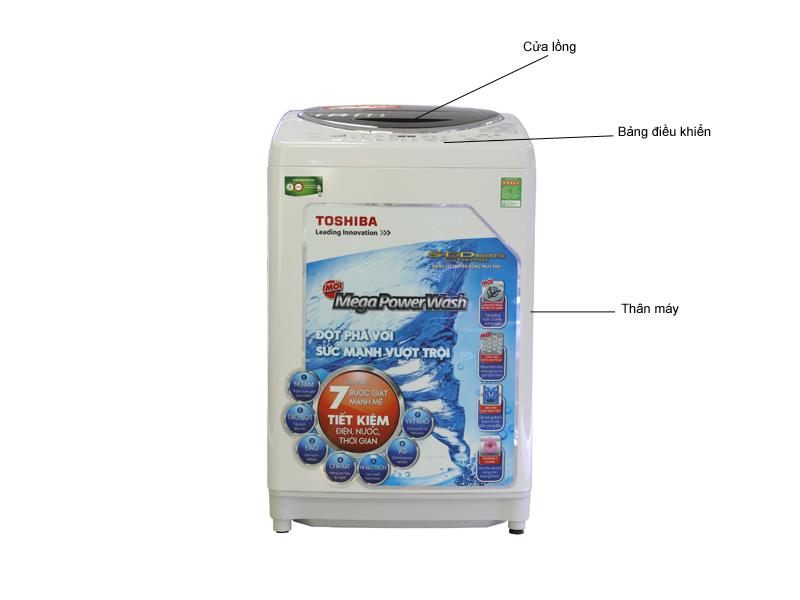 Máy giặt Toshiba DC1300WVW 12Kg - Nhập khẩu