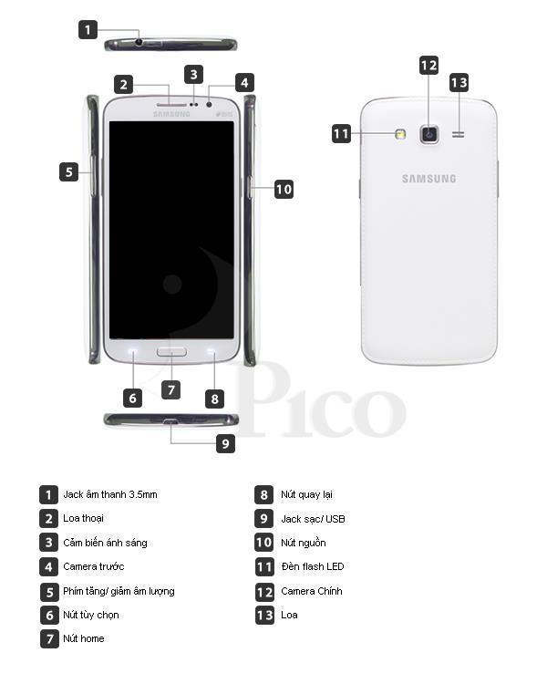 Samsung Galaxy Grand 2 G7102 - Màu Đen