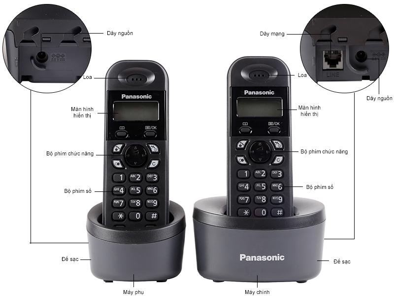 Điện thoại Dect phone kết nối tay con KX-TG1312