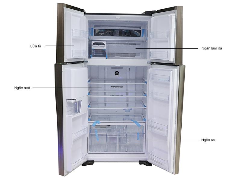 Tủ lạnh inverter Hitachi W660PGV3GBW - Nâu