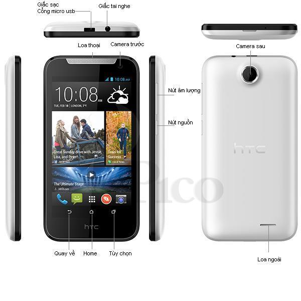 HTC Desire 310 - 2 sim màu trắng