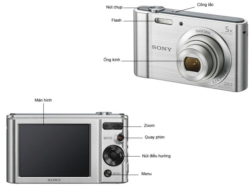 Máy ảnh Sony DSCW800S
