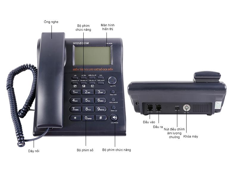 Điện thoại để bàn Widecom VN929 - Xanh Tím