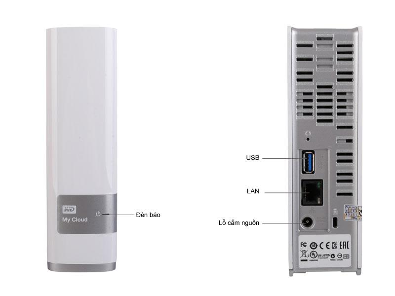 Ổ cứng di động WD 3TB Mycloud 3.5 usb 3.0 - Trắng