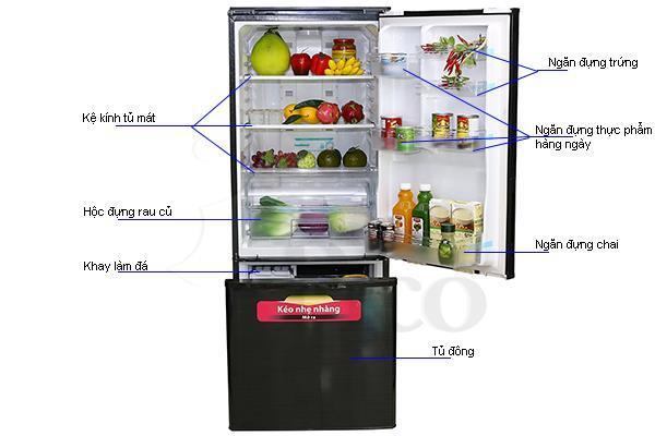 Tủ lạnh Sharp SJBW30DVBK - 290L màu đen