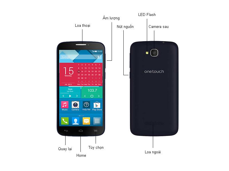 Điện thoại di động alcatel POP C7  - 7041D Black