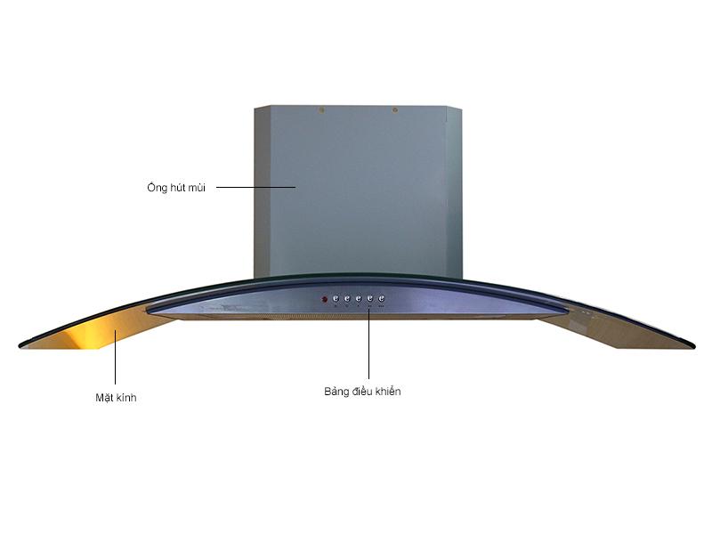Máy hút mùi dạng ống ELECTROLUX EFC9551