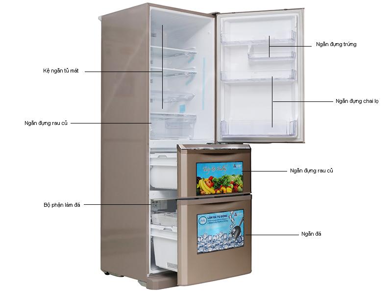 Tủ lạnh MITSUBISHI MRC46GPSV - 370L