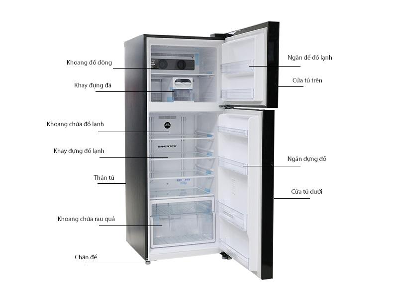 Tủ lạnh Hitachi inverter VG540PGV3GBK