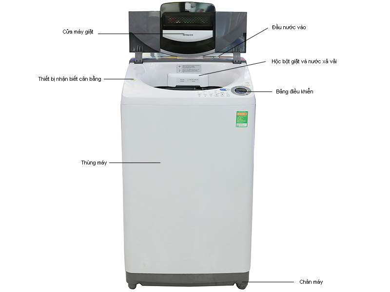 Máy giặt Hitachi SF105SSWH - 10,5 kg gỡ rối