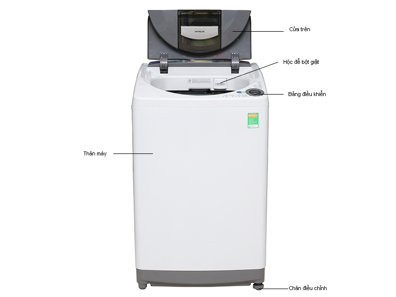 Máy giặt Hitachi SF130SSWH - 13 kg gỡ rối