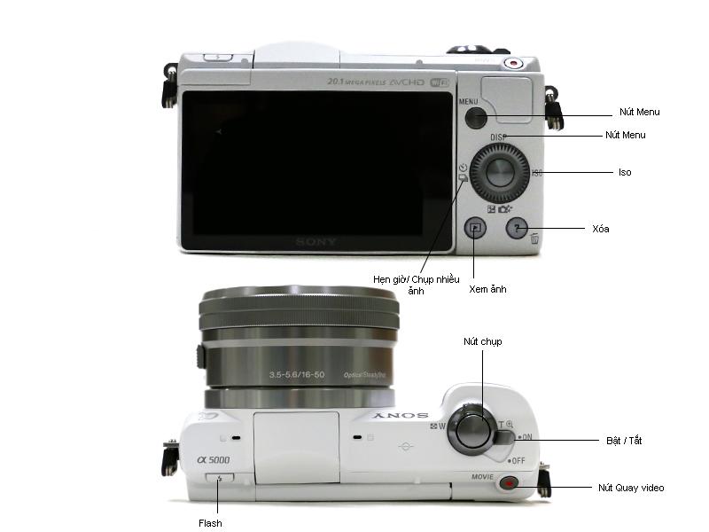 Máy ảnh Sony ILCE-5000L màu đen ( Alpha 5000) kèm ống kính 16-50mm