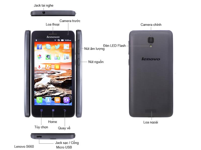 Điện thoại di động Lenovo S660 Titanium