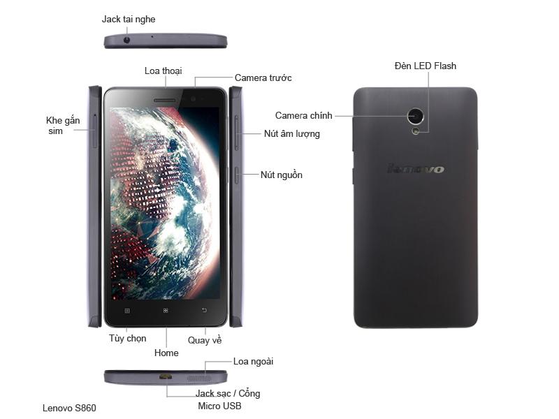 Điện thoại di động Lenovo S860 Titanium