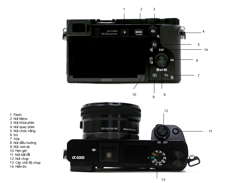 Máy ảnh Sony ILCE-6000L( Alpha 6000) màu bạc kèm ống kính 16-50mm