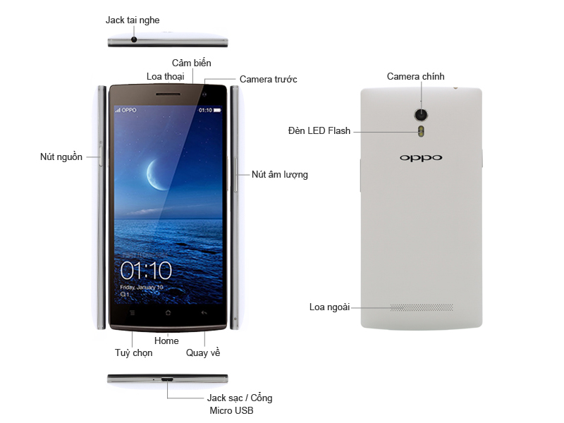Oppo FIND 7a trắng - X9006